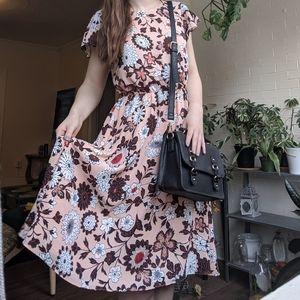 Ann Taylor Loft Pink Floral Spring Dress